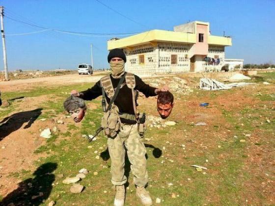 عاجل: نشر الدولة الاسلامية في العراق و الشام ( داعش ) صور رؤس مقاتلين YPG